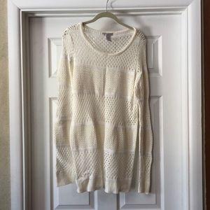 DESIGN History Cream Sweater, Size XL